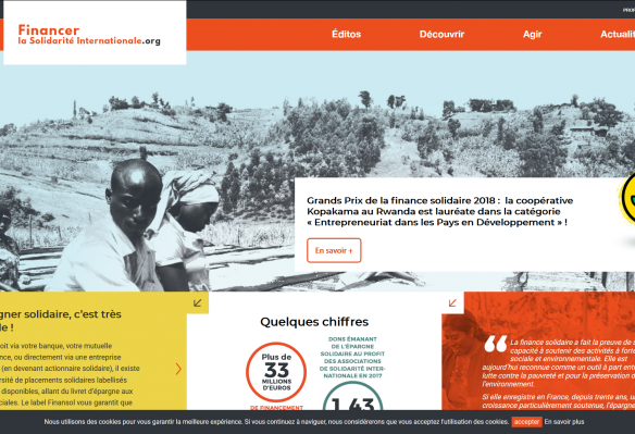 Lancement de la plateforme www.financerlasolidariteinternationale.org